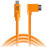 کابل  Tether Tools TetherPro USB Type-C Male to Micro-USB 3.0 Type B Male Cable (15', Orange, Right-Angle):CUC33R15-ORG